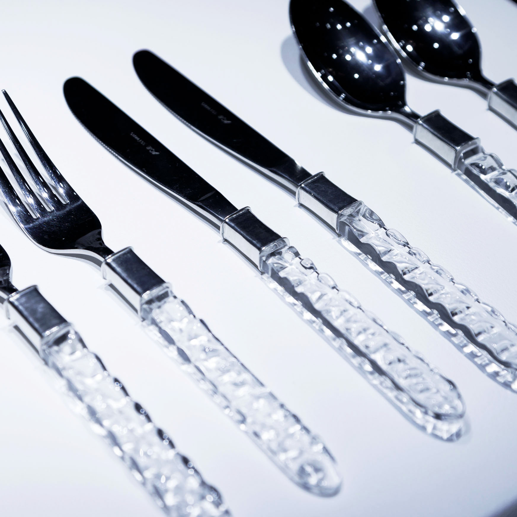 Clear Crocodile Cutlery